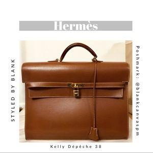 ff2e804f3c47 Hermes. Hermès Kelly Dépêche 38 Cognac
